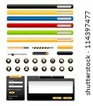 set of modern vector web design ...   Shutterstock .eps vector #114397477
