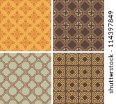 collection of four decorative... | Shutterstock .eps vector #114397849
