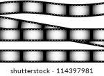 35 mm film strip background ... | Shutterstock . vector #114397981
