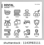 dental icon set | Shutterstock .eps vector #1143983111