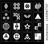 set of 16 icons such as square  ... | Shutterstock .eps vector #1143987737