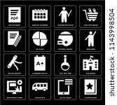 set of 16 icons such as... | Shutterstock .eps vector #1143998504
