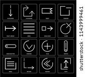 set of 16 icons such as shift ...