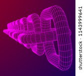 wireframe blockchain links.... | Shutterstock . vector #1143999641