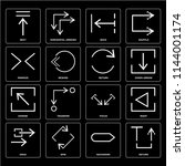 set of 16 icons such as return  ...