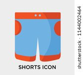 shorts icon vector isolated on... | Shutterstock .eps vector #1144002464