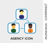 agency icon vector isolated on... | Shutterstock .eps vector #1144004627