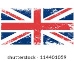 British  UK flag grunge