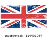 british uk flag grunge. vector. | Shutterstock .eps vector #114401059