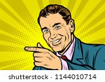 close up man pointing finger.... | Shutterstock .eps vector #1144010714
