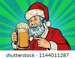 Santa Claus With A Mug Of Beer...