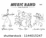 musicians and musical...   Shutterstock .eps vector #1144015247