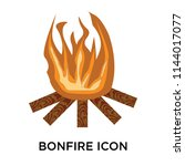 bonfire icon vector isolated on ... | Shutterstock .eps vector #1144017077