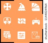 simple set of 9 filled  icons... | Shutterstock .eps vector #1144024964