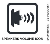 speakers volume icon vector... | Shutterstock .eps vector #1144030454