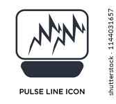 pulse line icon vector isolated ... | Shutterstock .eps vector #1144031657