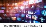 digital marketing and internet... | Shutterstock . vector #1144031741