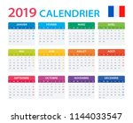calendar 2019   french version  ... | Shutterstock .eps vector #1144033547
