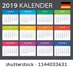 calendar 2019   gerrman version ... | Shutterstock .eps vector #1144033631