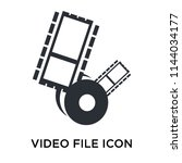 video file icon vector isolated ...
