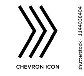 chevron icon vector isolated on ... | Shutterstock .eps vector #1144038404