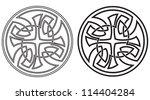 celtic round ornament. set of... | Shutterstock . vector #114404284
