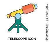 telescope icon vector isolated... | Shutterstock .eps vector #1144049267
