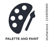 palette and paint brush icon... | Shutterstock .eps vector #1144050404