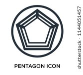 pentagon icon vector isolated... | Shutterstock .eps vector #1144051457
