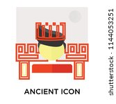ancient icon vector isolated on ... | Shutterstock .eps vector #1144053251