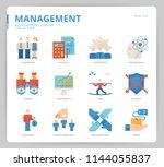 management icon set | Shutterstock .eps vector #1144055837