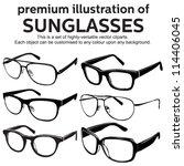 sunglasses vintage style clipart | Shutterstock .eps vector #114406045
