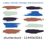 messy label brush stroke... | Shutterstock .eps vector #1144063061