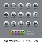 book icons    pearly series     ... | Shutterstock .eps vector #114407335