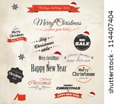 christmas decoration collection.... | Shutterstock .eps vector #114407404