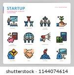 startup icon set | Shutterstock .eps vector #1144074614