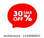 30  off black friday sale ... | Shutterstock .eps vector #1144080851
