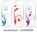 set of ornamental cards with...