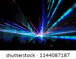 colorful laser show nightlife... | Shutterstock . vector #1144087187