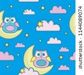 cartoon seamless pattern color...   Shutterstock .eps vector #1144089074