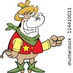 cartoon illustration of a cow... | Shutterstock . vector #114410011