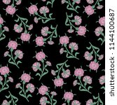 seamless floral pattern with... | Shutterstock .eps vector #1144100687