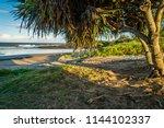 Bundaberg beach at sunset in Queensland, Australia