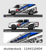 vehicle livery graphic vector....   Shutterstock .eps vector #1144110404