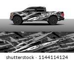 car decal wrap design  truck... | Shutterstock .eps vector #1144114124