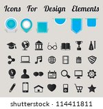 icons for design elements  ... | Shutterstock .eps vector #114411811