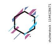 abstract shape banner vector | Shutterstock .eps vector #1144128671
