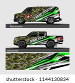 vehicle graphic kit. abstract... | Shutterstock .eps vector #1144130834