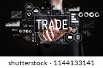 trade with businessman on a...   Shutterstock . vector #1144133141