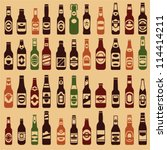 beer bottles vector collection. ... | Shutterstock .eps vector #114414211